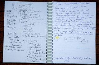 Premières pages du Livre de bord de Nina, 1er jour de traversée