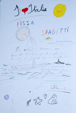 dessin de Nina sur son livre de bord, Jour 5