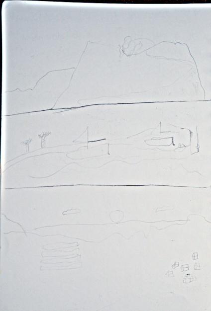 Dessin de Nina sur son livre de bord, Jour 7