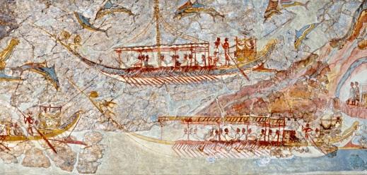 Photo d'une fresque de Thera (ile de Santorin), Photo Serge Briez