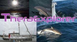 Invitation à l'arrivée de Thera Explorer à Leucate, Montage Serge Briez pour Cap médiations 2014