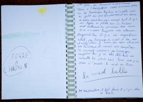 Photo du Livre de bord de Nina, 3ème jour de traversée