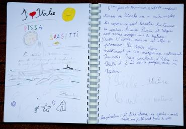 Photo du Livre de bord de Nina, 5ème jour de traversée