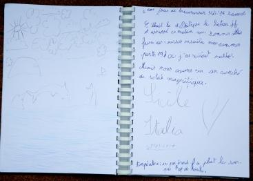Photo du Livre de bord de Nina, 6ème jour de traversée
