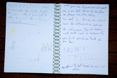Photo du Livre de bord de Nina, 7ème jour de traversée