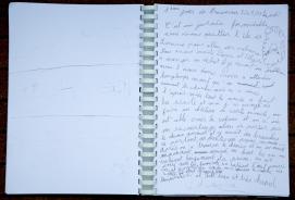 Photo du Livre de bord de Nina, 8ème jour de traversée