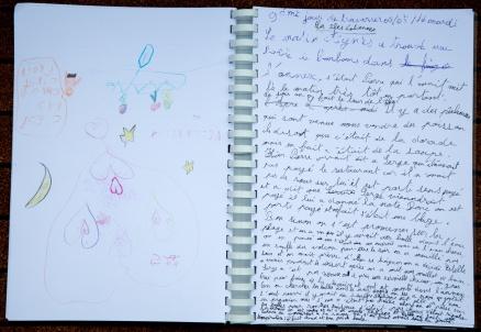 Photo du Livre de bord de Nina, 9ème jour de traversée