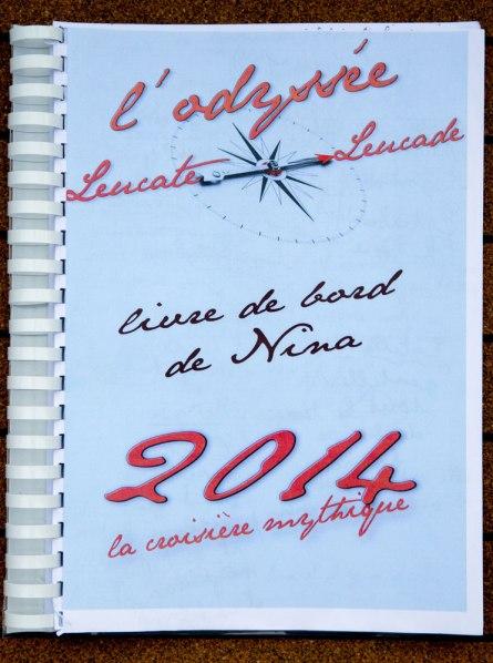 Page de couverture du Livre de bord de Nina, réalisé par Serge Briez