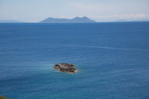 Ile d'Ithaque vue de la falaise de Leucade, photo Serge Briez, Cap médiations 2014