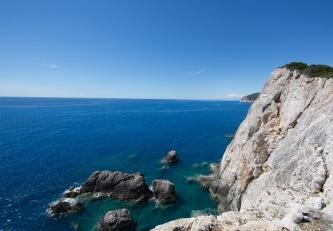 Vue de la falaise du cap Leucade, Grèce, photo Serge Briez 2014