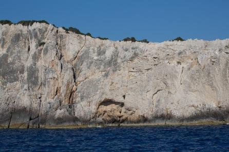 La falaise du cap leucade, Grèce, photo Serge briez, Cap médiations 2014