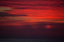 Coucher de Soleil après le détroit de Messine, photo Serge Briez, Cap médiations 2014