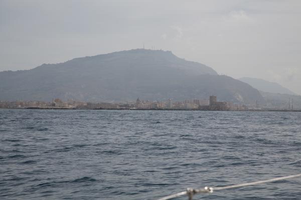 Arrivée en Sicile, port de Trapani, Italie, Photo Serge Briez, Cap médiations 2014-leucate-leucade4