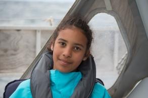 Nina sur Thera explorer, Photo Serge Briez, Cap médiations 2014