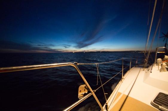 Coucher de soleil sur le sud de la Sardaigne, photo Serge Briez, Cap médiations 2014