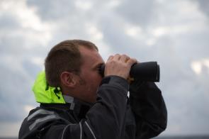 Philippe Roger sur Thera explorer, Photo Serge Briez, Cap médiations 2014