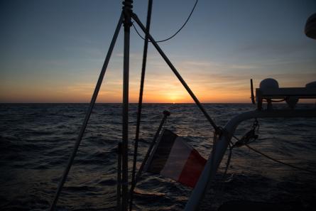 Thera explorer, première nuit en Mer, photo Serge Briez, cap médiations 2014