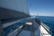 Thera explorer entre les iles éoliennes et le détroit de Messine, photo Serge Briez, Cap médiations 2014