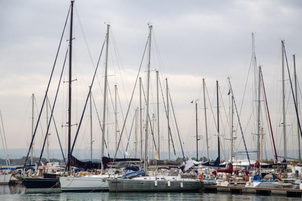 Thera explorer dans la marina de Syracuse, photos Serge Briez, Cap mediations 2014