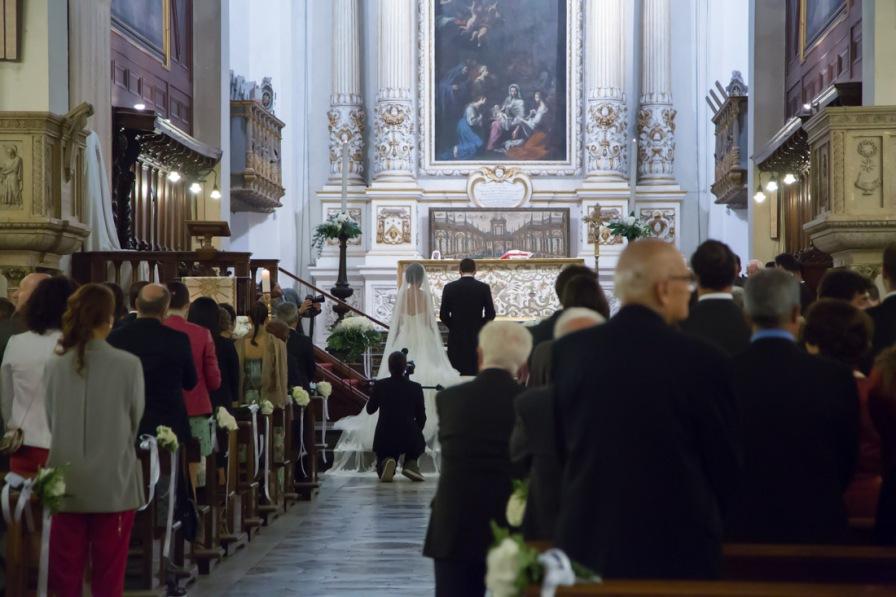 Cérémonie de mariage dans le Duomo, Syracuse, photo Serge Briez, Cap médiations 2014