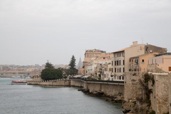 Vue d'Otigia, Syracuse, Sicile, photo Serge Briez, Cap médiations 2014