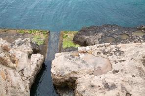 La mer, au pieds du Catello Maniace, Syracuse, photo Serge Briez, Cap médiations 2014
