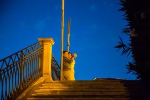 Amoureux se photographiant dos à la baie de Syracuse, photo Serge Briez, Cap médiations 2014