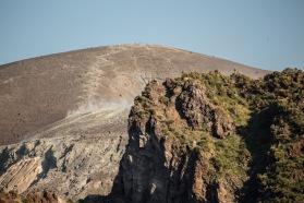 Vue du tour de l'ile de Vulcano, iles éoliennes, Italie, Photo Serge Briez, Cap médiations 2014