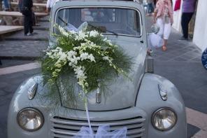 La voiture de la mariée est avancée, port de Lipari, photo Serge Briez, Cap médiations 2014