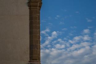 Colonne de la basilique San Bartoloméo, Lipari, photo Serge Briez, Cap médiations 2014