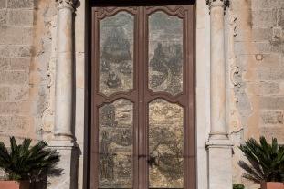 Portail en bronze de la basilique San Bartoloméo, Lipari, photo Serge Briez, Cap médiations 2014