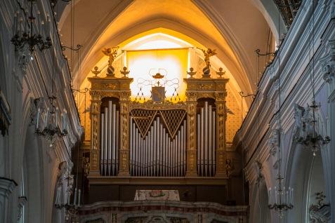Orgue dans la Basilique San Bartoloméo, île de Lipari, photo Serge Briez, Cap médiations 2014