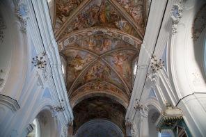 Fresques des plafonds de la Basilique San Bartoloméo, île de Lipari, photo Serge Briez, Cap médiations 2014