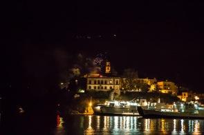 Château de Lipari la nuit, vue de la baie, photo Serge Briez, Cap médiations 2014