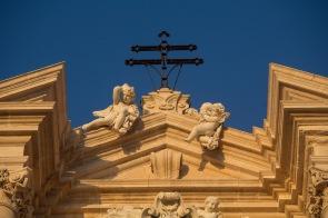 Anges en façade du Duomo, Cathédrale de Syracuse, ile d'Ortygie, photo Serge Briez, Cap médiations 2014
