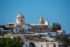 Village de Stromboli, vue de la mer, photo Serge Briez, Cap médiations 2014