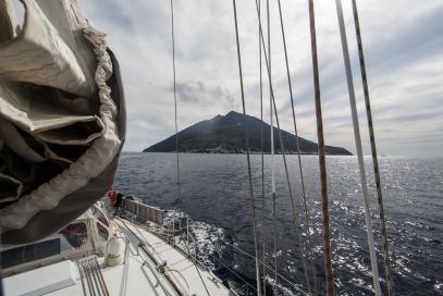 Départ du Stromboli, Vue de la partie Nord Ouest, photo Serge Briez, Cap médiations 2014
