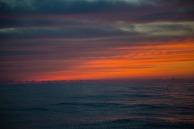 Départ du Stromboli, coucher du Soleil, photo Serge Briez, Cap médiations 2014