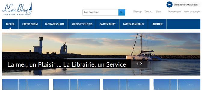 Eau bleue : Librairie Maritime à La Grande Motte