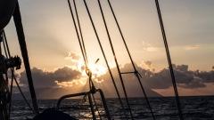 Lipari, île éolienne au coucher du Soleil, photo Serge Briez, Cap médiations 2014