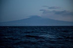 L'Etna vu de Thera Explorer, photo Serge Briez, Cap médiations 2014