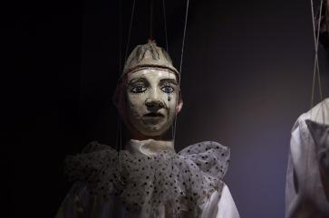 Marionnette de Pierrot, du Museo dei Pupi, Syracuse, photo Serge Briez, Cap médiations 2014