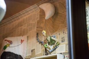 Personnage de la boutique de Design Fico, Via Roma, Syracuse, photo Serge Briez, Cap médiations 2014