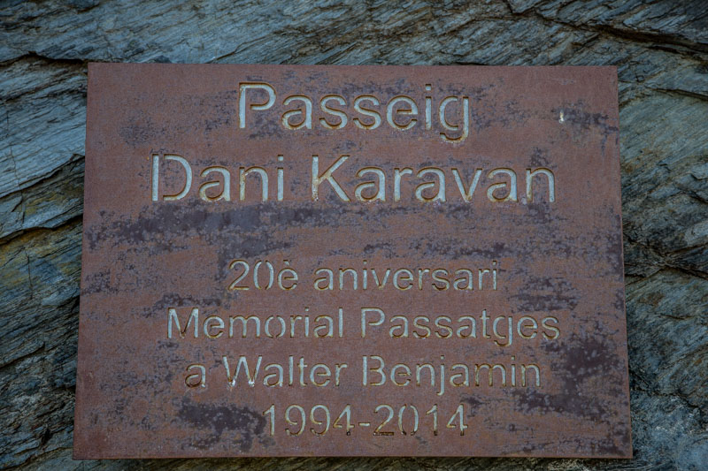 Passages de Dani Karavan en hommage aux exilés et à Benjamin Walter, photos Serge BRIEZ®capmediations 2015 tous droits résevés