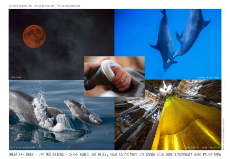 Meilleurs voeux 2016 de Thera explorer par Serge Briez, copyright cap médiations