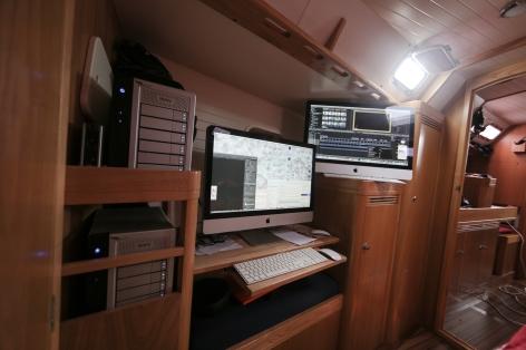 studio vidéo à bord